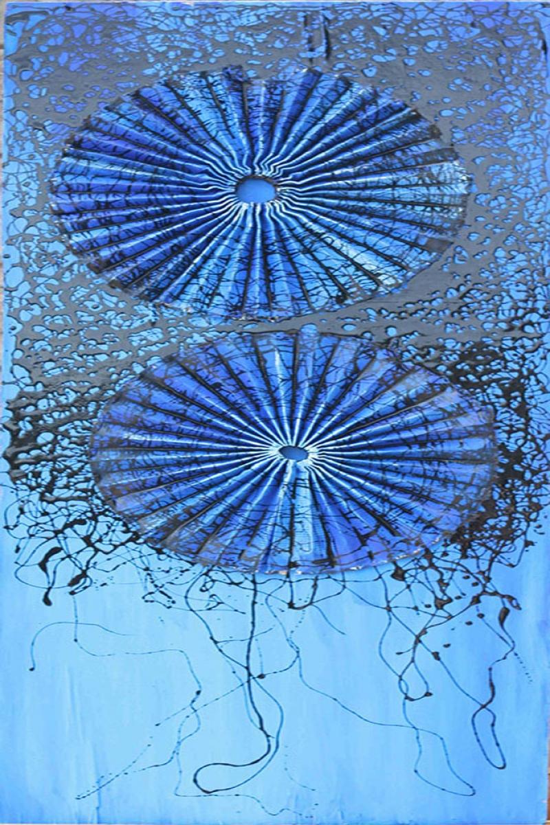 Su Rengi Yağlı Boya Abstract Kanvas Tablo