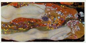 Su Yılanları II Gustav Klimt Başyapıt Kanvas Tablolar