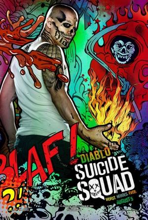 Suicide Squad El Diablo Poster Kanvas Tablo