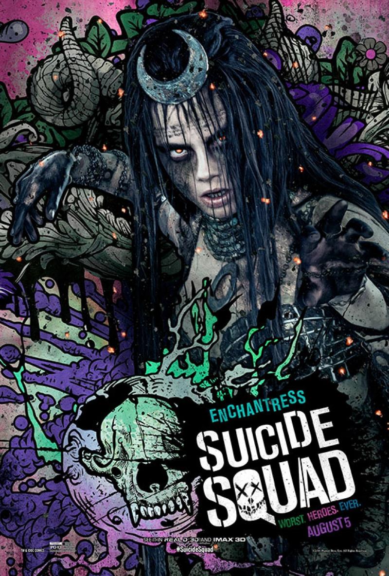 Suicide Squad Enchantress Waller Poster Kanvas Tablo