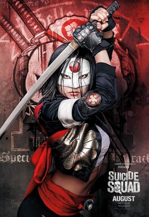Suicide Squad Katana Poster Kanvas Tablo 2