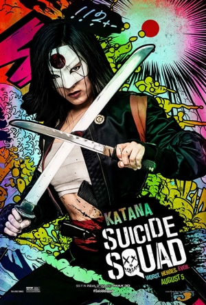 Suicide Squad Katana Poster Kanvas Tablo