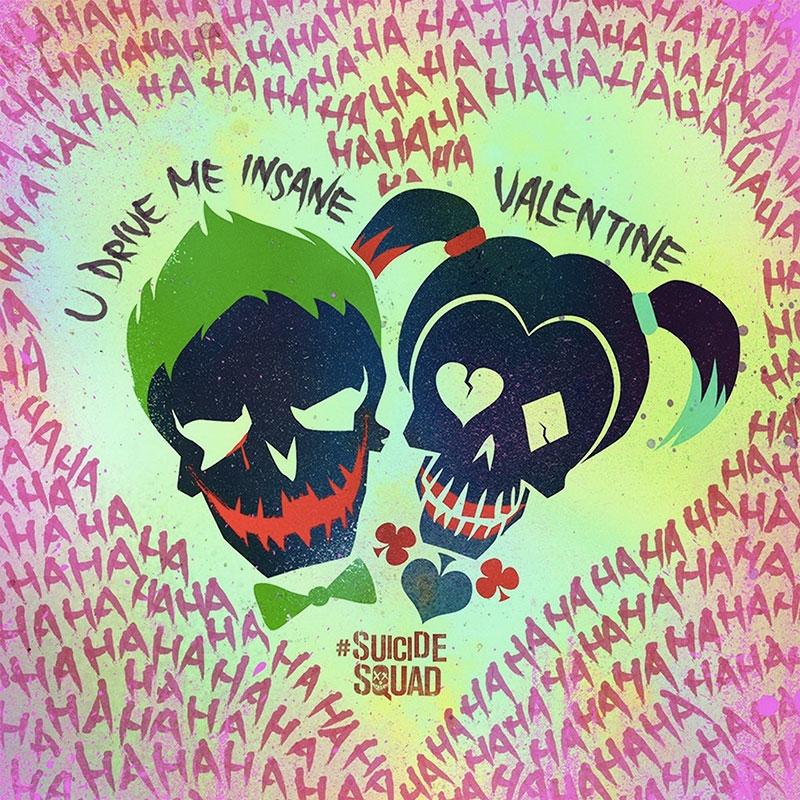 Suicide Squad Pop Art Poster Love Kanvas Tablo