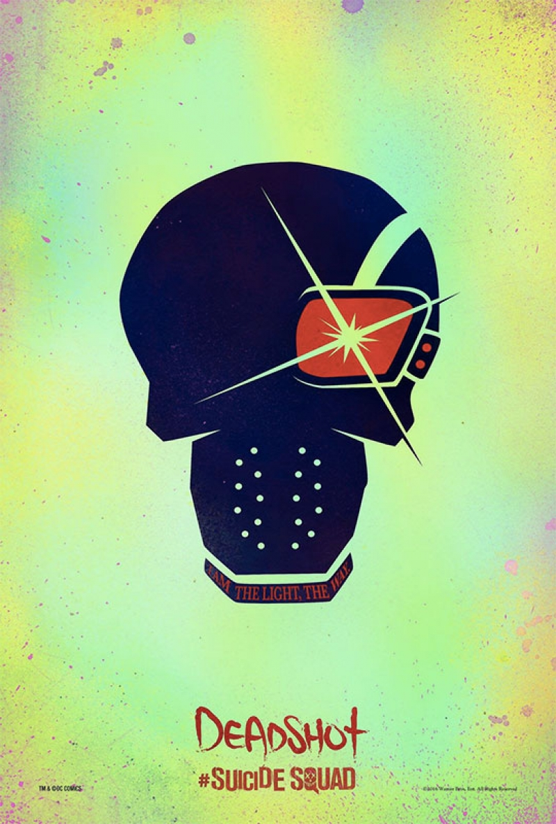 Suicide Squad Pop Art Poster Tablo Deadshot