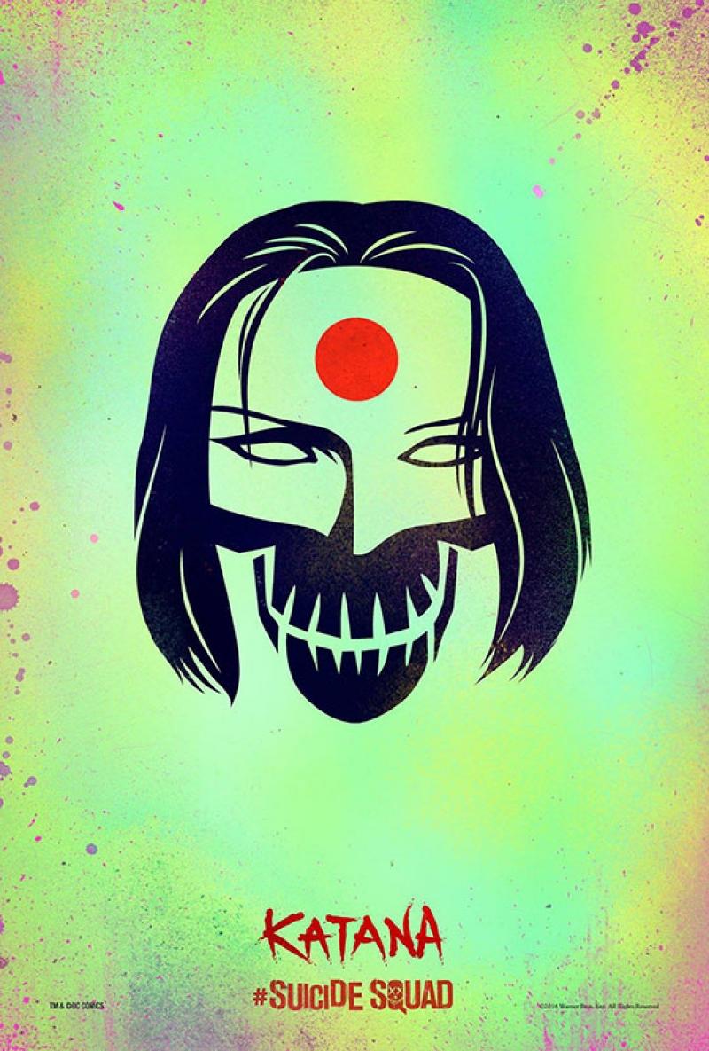 Suicide Squad Pop Art Poster Tablo Katana