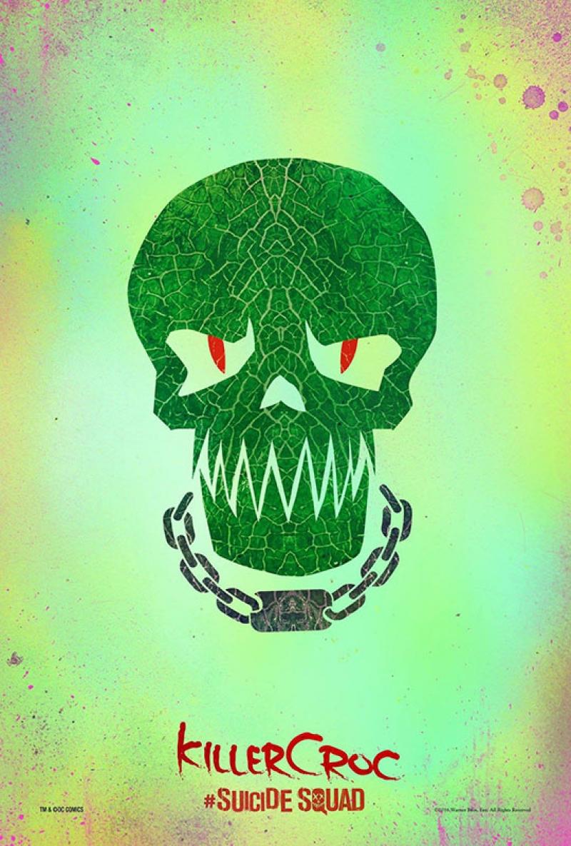 Suicide Squad Pop Art Poster Tablo Killer Croc
