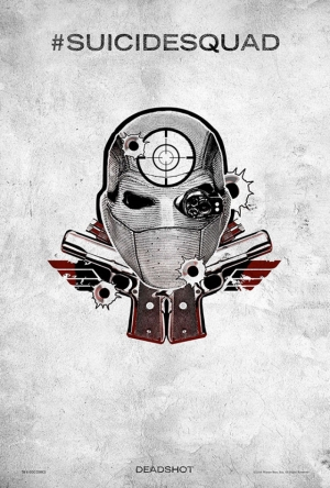Suicide Squad Pop Art Tattoo Poster Kanvas Tablo Deadshot