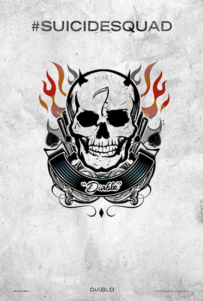 Suicide Squad Pop Art Tattoo Poster Kanvas Tablo El Diablo