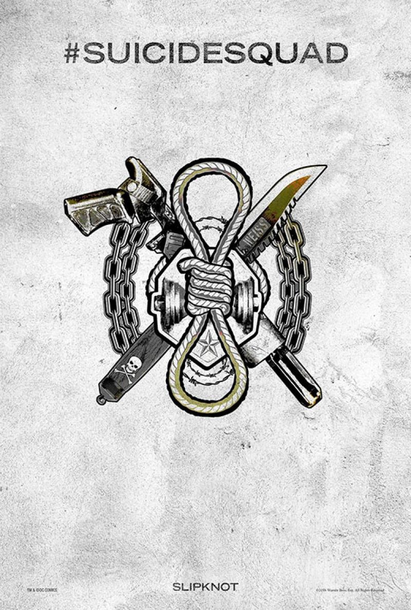Suicide Squad Pop Art Tattoo Poster Kanvas Tablo Slipknot