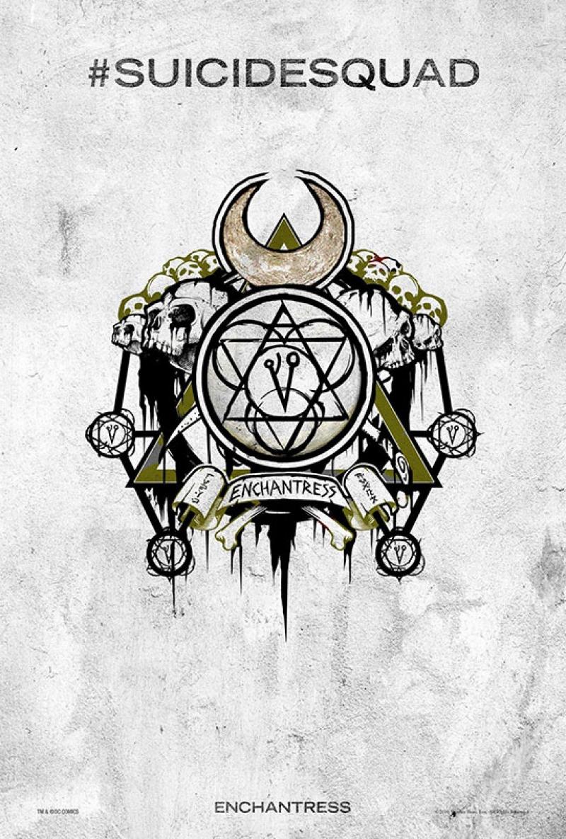 Suicide Squad Pop Art Tattoo Poster Kanvas Tablo The Enchantress