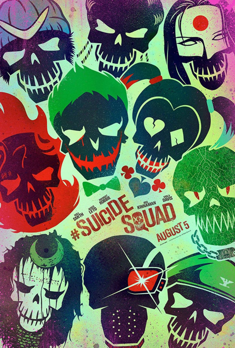 Suicide Squad Pop Art Teaser Poster Kanvas Tablo
