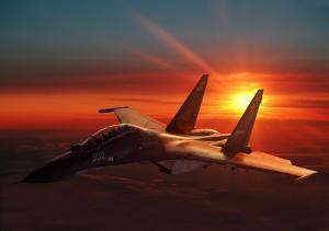 Sukhoi Flanker Savaş Uçağı Askeri Kanvas Tablo