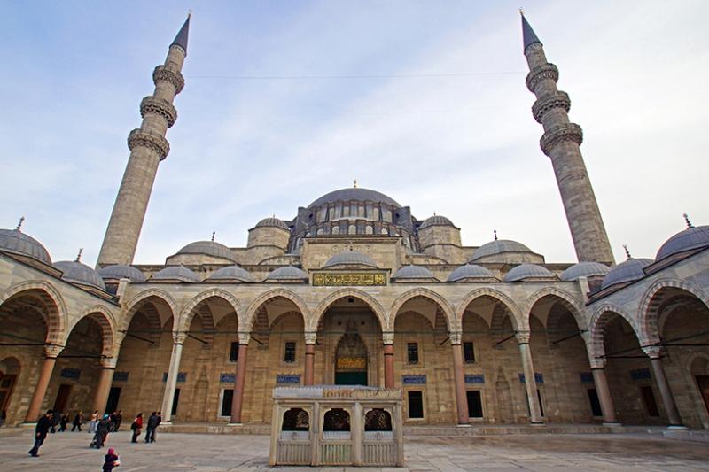 Süleymaniye Camii Dış Görünüm 3 Dini & İnanç Kanvas Tablo