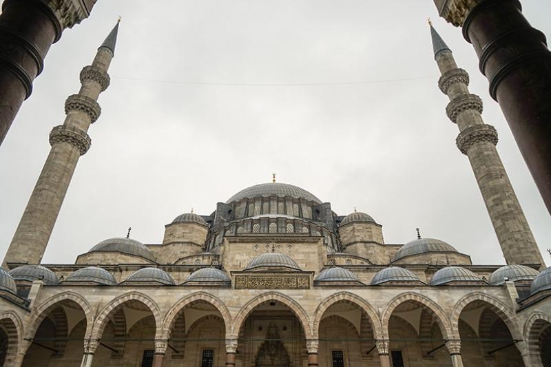 Süleymaniye Camii Dış Görünüm Dini & İnanç Kanvas Tablo