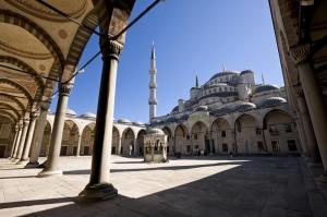Sultan Ahmet Camii Giriş İç Görünüm Dini & İnanç Kanvas Tablo