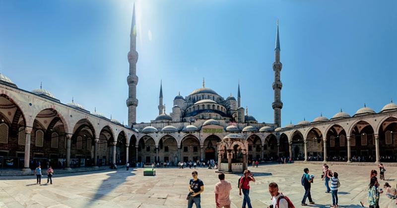Sultan Ahmet Camii İç Görünüm 2 Dini & İnanç Kanvas Tablo