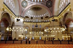 Sultan Ahmet Camii İç Görünüm Dini & İnanç Kanvas Tablo