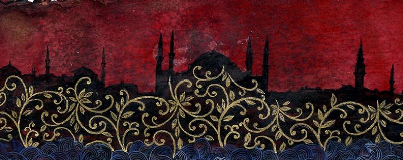Sultan Ahmet Camii İşleme Osmanlı Tarihi Kanvas Tablo