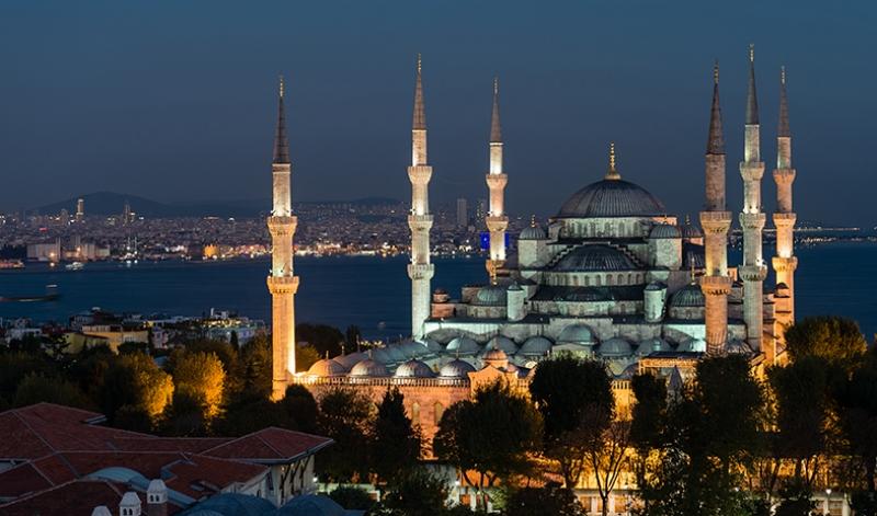 Sultan Ahmet Camii İstanbul Dünyaca Ünlü Şehirler Kanvas Tablo