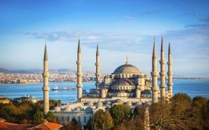 Sultan Ahmet Camii Manzarası Dini & İnanç Kanvas Tablo