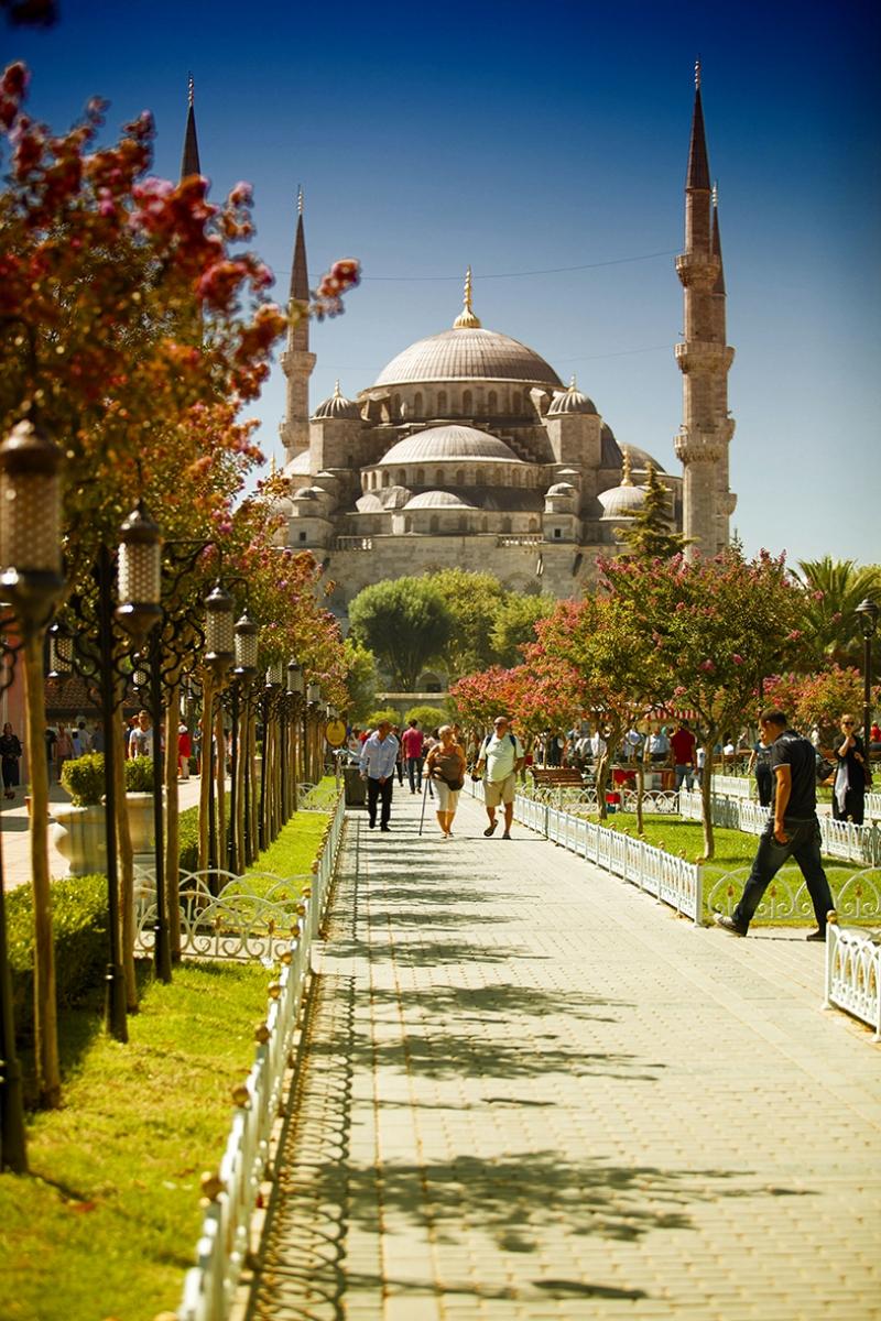 Sultan Ahmet Camii ve İstanbul 2 Dini & İnanç Kanvas Tablo