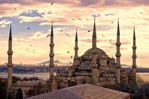 Sultan Ahmet Camii ve İstanbul Dini & İnanç Kanvas Tablo