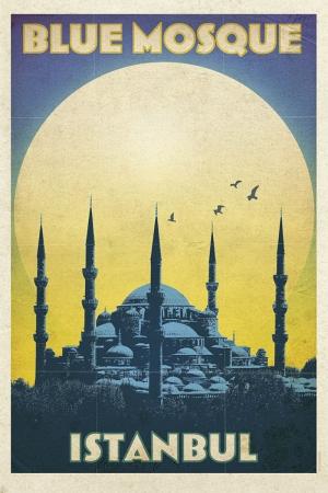 SultanAhmet Camii Şehirler Kanvas Tablo