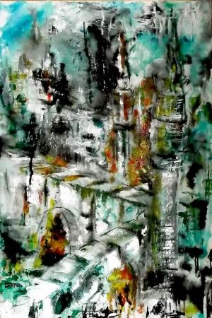 Sulu Boya Abstract Kanvas Tablo