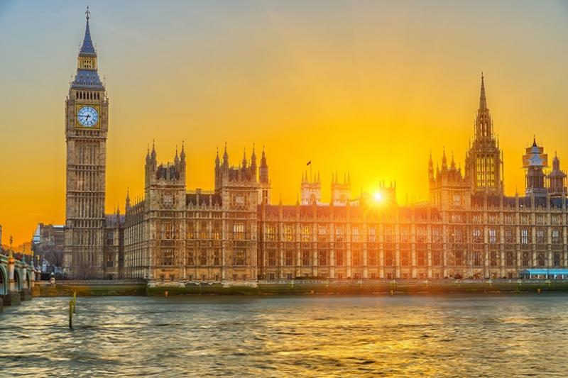 Sunset In Londra Dünyaca Ünlü Şehirler Kanvas Tablo