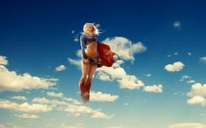 Süper Kız Süper Kahramanlar-2 Kanvas Tablo