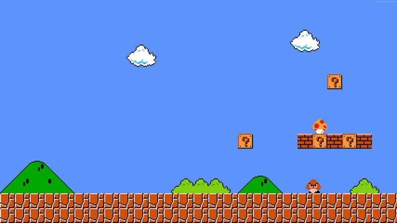 Süper Mario Bros Popüler Kültür Kanvas Tablo