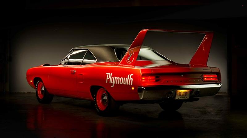 Superbird Plymoth Kırmızı Otomobil Klasik Kanvas Tablo