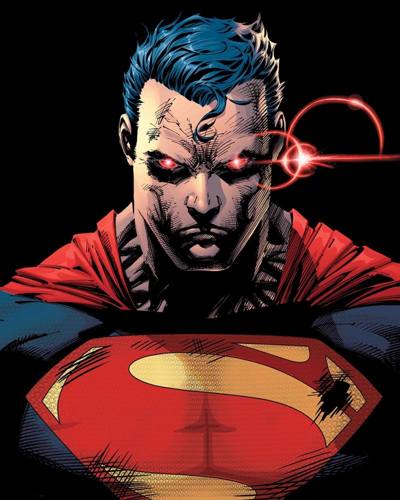 Süperman Evil Versiyon Çizgi Roman Süper Kahramanlar Kanvas Tablo
