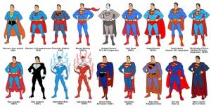 Süperman Kostümleri Süper Kahramanlar Kanvas Tablo