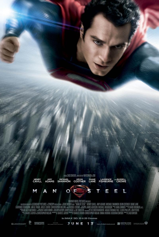 Süperman Man of Stell Afiş Kanvas Tablo