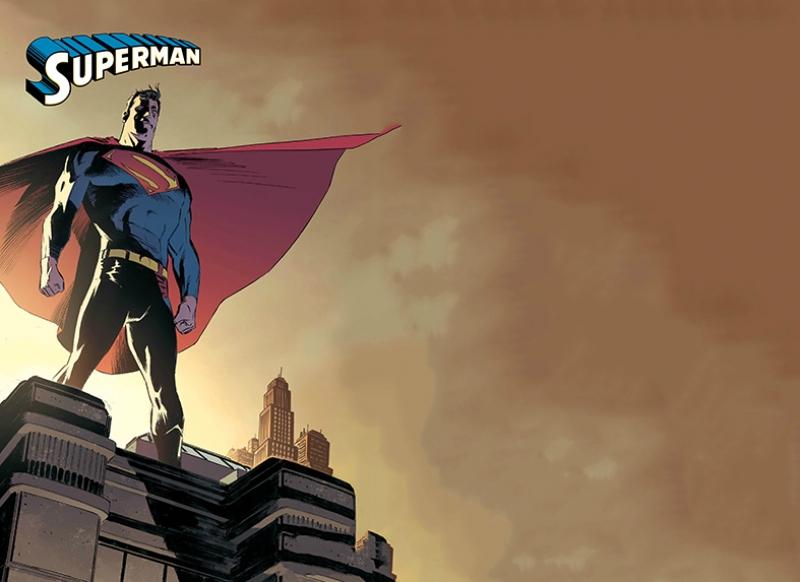 Süpermen Süper Kahramanlar Kanvas Tablo