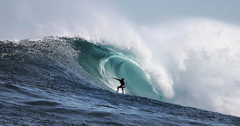 Surf ve Dev Dalgalar Doğa Manzaraları Kanvas Tablo