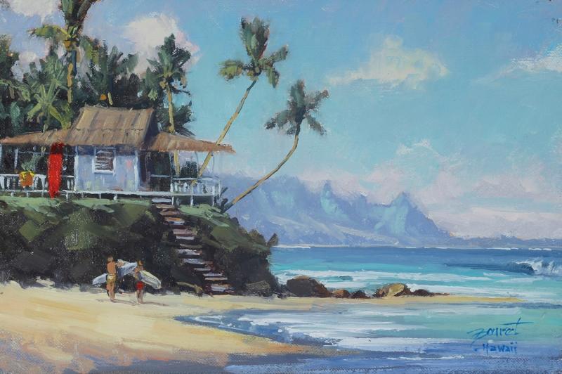 Surf Zamanı, Sahil Manzara Modern Sanat Kanvas Tablo