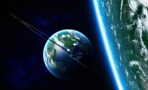Surreal Evren Dünya & Uzay Kanvas Tablo