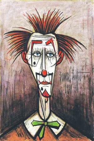 Suskun Palyaço Modern Sanat Kanvas tablo