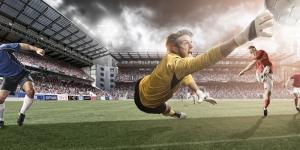 Şut ve Kurtarış Spor Kanvas Tablo