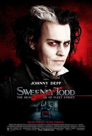 Sweeney Todd Johny Deep Afiş Tim Burton Kanvas Tablo