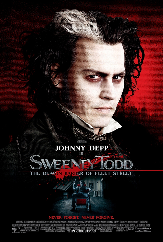 Sweeney Todd Johny Deep Afiş Tim Burton Kanvas Tablo
