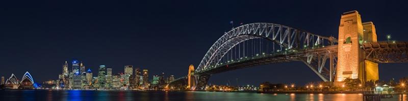 Sydney Köprü Panaroma Panaromik Manzara Kanvas Tablo