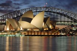 Sydney Opera Binası Dünyaca Ünlü Şehirler Kanvas Tablo