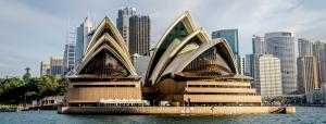 Sydney Opera Binası Şehir Manzarası Dünyaca Ünlü Şehirler Kanvas Tablo