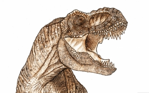 T-rex Dinazor Hayvanlar Kanvas Tablo