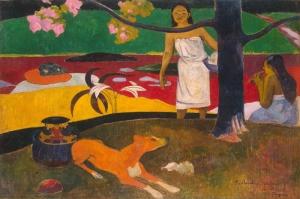 Tahiti Kırsalı Pastorales Tahitiennes Paul Gauguin Reproduksiyon Kanvas Tablo