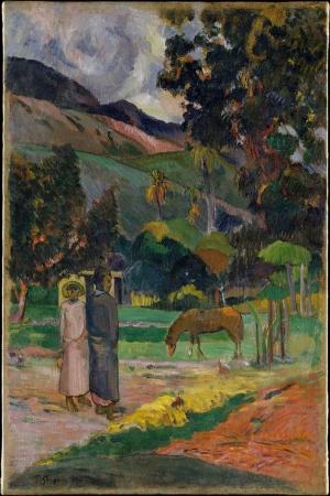 Tahiti Manzarası Paul Gauguin Reproduksiyon Kanvas Tablo