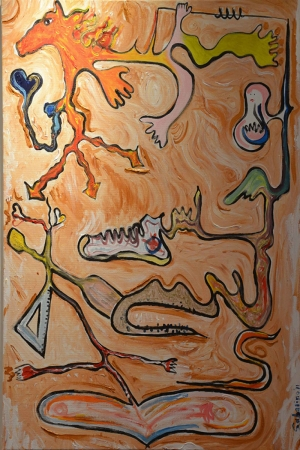 Takviye Soyut Abstract Kanvas Tablo